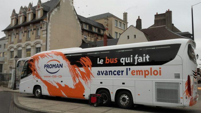 Bus de l'emploi à Montargis et Courtenay