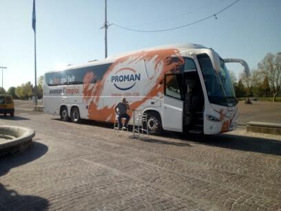 Bus qui fait avancer l'empli à Joigny
